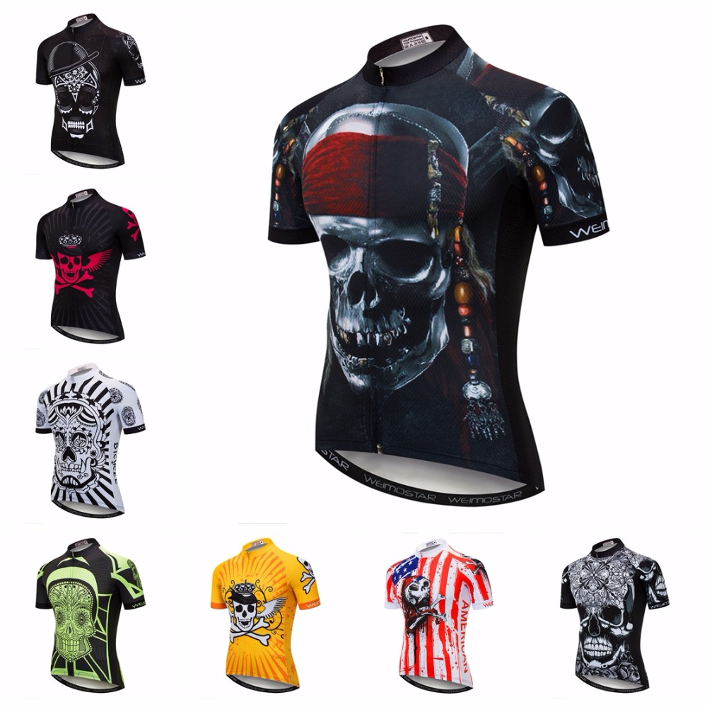 ... 2018 Road cycling jersey Men s Mountain Bike jersey summer Pro MTB  Shirts Short sleeve Pro Team Maillot Ciclismo Tops Skull red 71512ae75