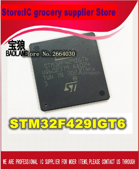Free Shipping  New Original STM32F429IGT6 STM32F429 LQFP176 free shipping original new valgc