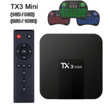 TX3 Mini Android 7.1 Smart TV BOX 2GB 16GB Amlogic S905W Quad Core 4K Wifi 100M LAN Set Top Box 1GB 8GB TX3mini tanix tx3 mini smart android tv box 1gb 8gb android 7 1 s905w quad core cpu 2 4ghz wifi support 4k media player setp top box