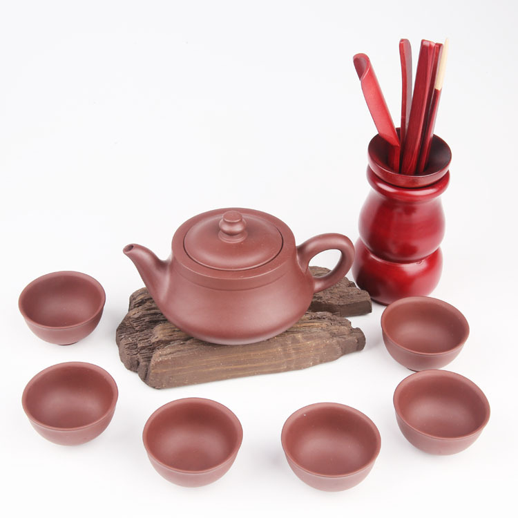 Free Shipping Yixing Purple Clay Tea Set with Solid Wood Gift Box Chinese Kung Fu Teapot With Taste Cup Tea Accessories Free Shipping Yixing Purple Clay Tea Set with Solid Wood Gift Box Chinese Kung Fu Teapot With Taste Cup Tea Accessories