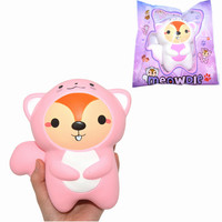 Kawaii Slime Hamster Squishied Toys Animal Healing Squirrel Slow Rising 16cm Squeeze Gift Collection For Kids