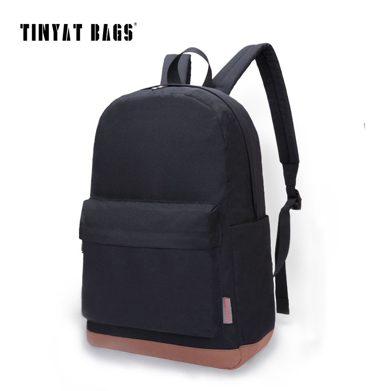 TINYAT Для мужчин школьные рюкзаки для отдыха Рюкзаки для  мальчиков-подростков Для женщин Дорожная сумка рюкзак 15 дюймов ноутбук  рюкзак mochila d2ca5345b18