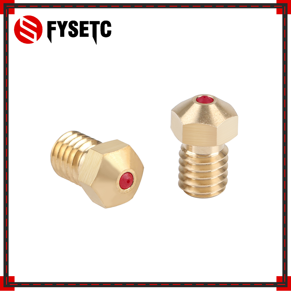 High Temperature E3D Ruby Nozzle V6 1.75mm Nozzles 0.4mm Compatible PETG ABS PET PEEK NYLON Ruby Nozzle For PRUSA I3 MK3/LulzBot