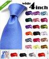 2015 de la alta calidad Wide Tie Men Formal Normal corbata del lazo 100 unids/lote venta al por mayor del color sólido ata 10 cm 4 pulgadas DHL libera el envío
