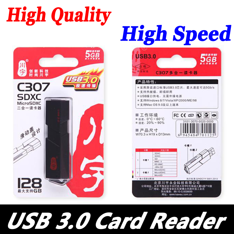 Fashion Super Speed 5Gbps USB 3.0 Micro SDXC SD TF Card Reader Adapter For SD Card MicroSD TF Card SDHC Micro SDXC up to 128GB