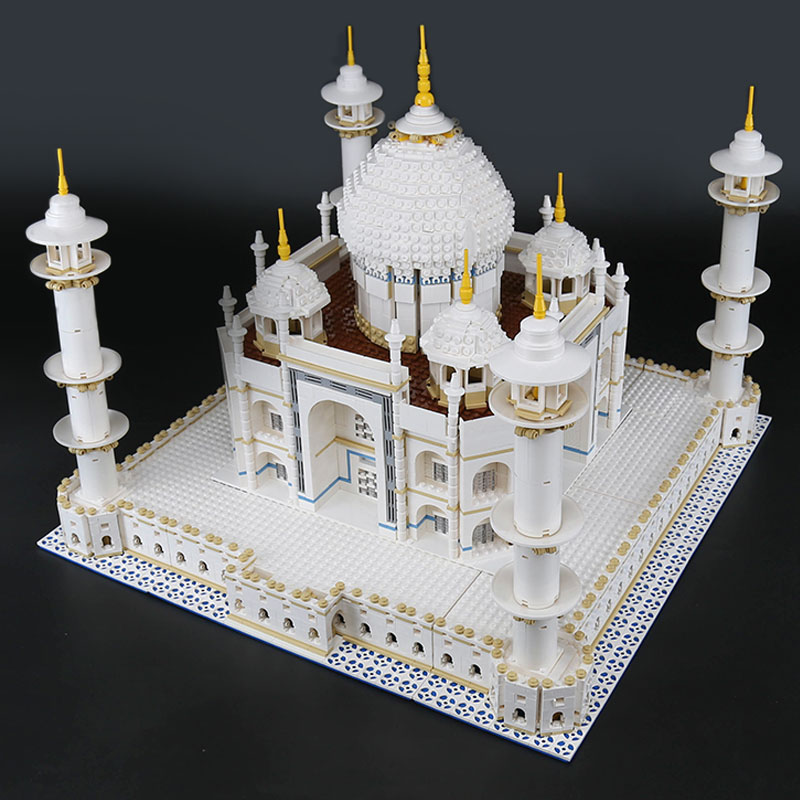 LEPIN 17001 17008  City Street  The Tai Mahal Model Building Kits  Assembling Brick  10189 Educational Lovely Gifts Toys loz mini diamond block world famous architecture financial center swfc shangha china city nanoblock model brick educational toys