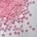 11 Colores 3mm 1000 Unids Craft ABS Imitación Perlas Flatback de la Resina Perlas Media Vuelta espalda plana Perlas del libro de Recuerdos Decoración de Los Granos