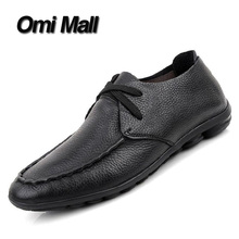 2016 High quality men brand designer soft Genuine slip-on Leather oxford men flats, comfortable Creepers espadrilles men's hand