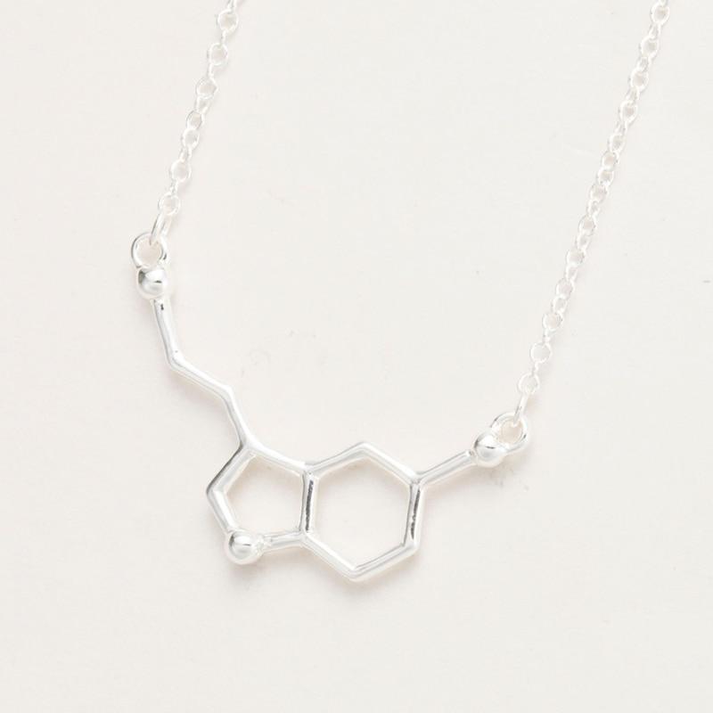 yiustar 2017 Serotoniini molekuli ripatsid Kaelakeed naistele Keemia - Mood ehteid - Foto 4