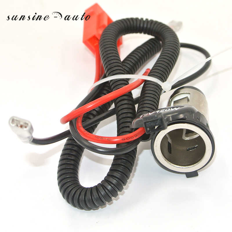 1 Set 12V Cigarette Lighter Socket Power Plug Outlet Parts With Wiring Harness For Car Motorcycle and all 12V Vehicle