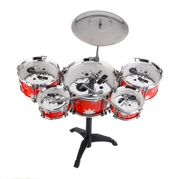 Plug Size Lightweight Mini Children Kids Practicing Drum Instrument Portable ABS Stainless Steel Drum Set With Chair Hot Sale