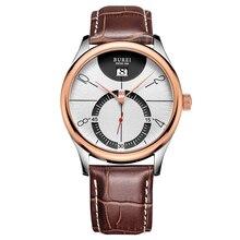 BUREI 3033 Швейцария часы мужские люксовый бренд Матовый матовый Кварцевые wtach календарь Бизнес браун relogio masculino