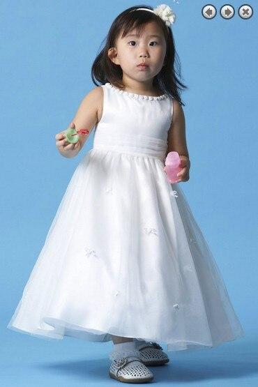free shipping flower girl dresses for weddings 2016 baby girl prom communion kids christmas pageant dresses for girls white