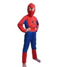 Hot sale Cool Kids  Boys Festivals Halloween Costume Clothing Set Superhero Cosplay Show Spiderman Superman Batman Zorro