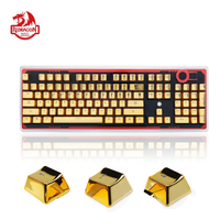 Redragon A101G 104 Keycaps & Key Puller for Mechanical Switch Keyboard PBT Double Shot Injection Backlit Metallic Electroplated