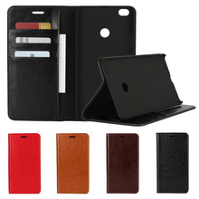 Business Crazy Horse Genuine Leather Case For Xiaomi Max Mi Max Magnetic Filp Wallet Stand Cover Case For MiMax (6.44″inch)