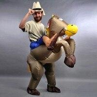 Inflatable Cowboy Horse Suit Costume Fancy Dress Party Dresses