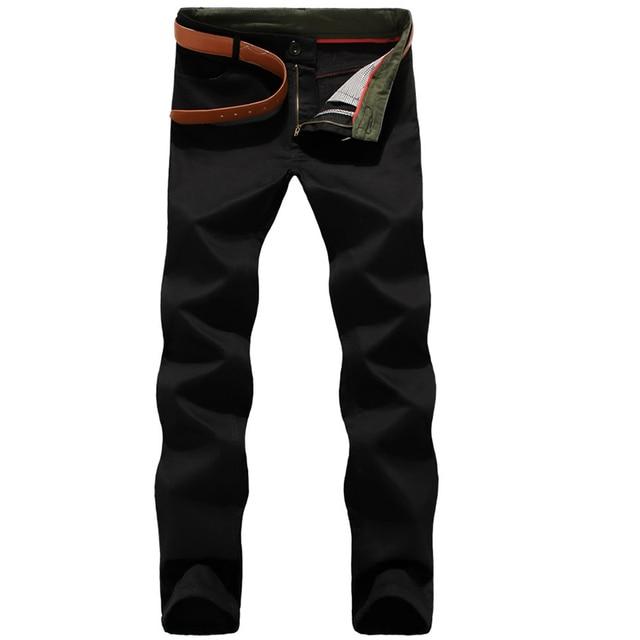 2016 новые марка бизнес мужские хаки случайные штаны плюс толстый бархат брюки мужчины 5XL мешковатые мужские брюки