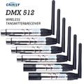 DMX512 Senza Fili Trasmettitore Ricevitore Regolatore di Illuminazione 2.4G ISM Distanza di Comunicazione 300M per la Fase PAR di Illuminazione Del Partito DMX