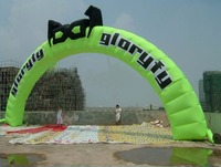 Ace 10m Wide Springgreen Inflatable Round Arch with Logo with Square Sections Made In China
