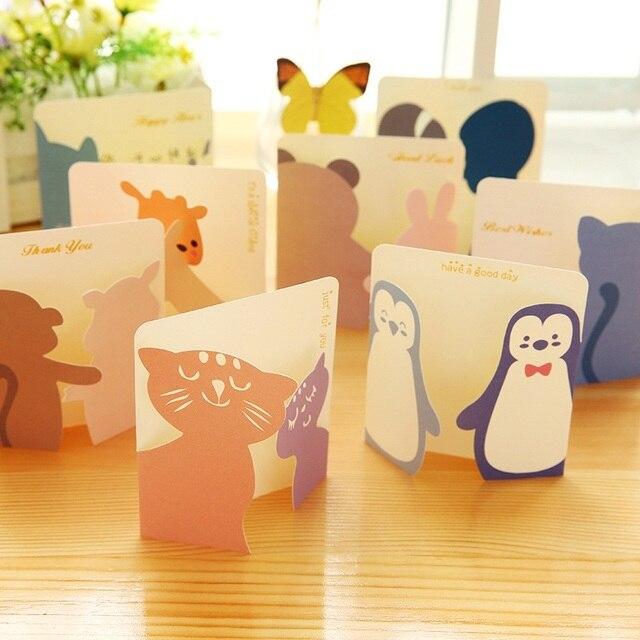 Buy 8pcs lot creative cute little animals for Cute creative christmas cards
