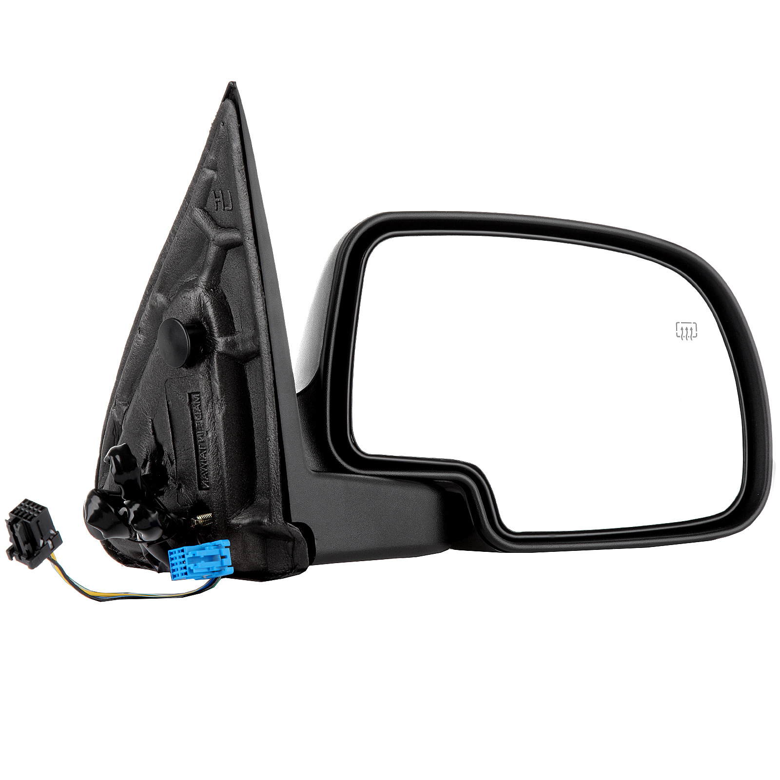 Passenger Side View Mirror Power Heated Black RH for Chevy GMC Right