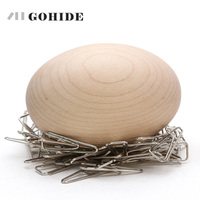 JUH A Simple Funny Design Wood Egg Magnetic Needle Ingathering Bird Nest Magnet Magnetic Haustorium Home Furnishing Activities