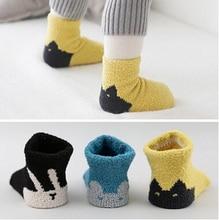 Cute Cartoon Unisex Child Socks Baby Toddler Girl Boy Warm Cotton 4 Pair/Lot