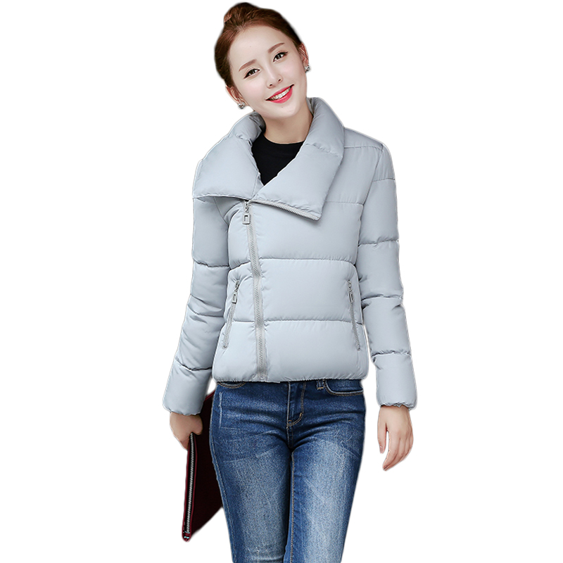 2016 korean fashion kawaii student winter short jacket women basic coat elegant pink black cute outerwear coats and jakcet