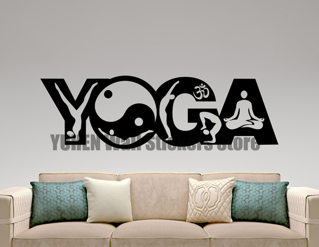 Yoga Wall Sticker Vinyl Decal Home Interior Design Yoga Studio Decor ...