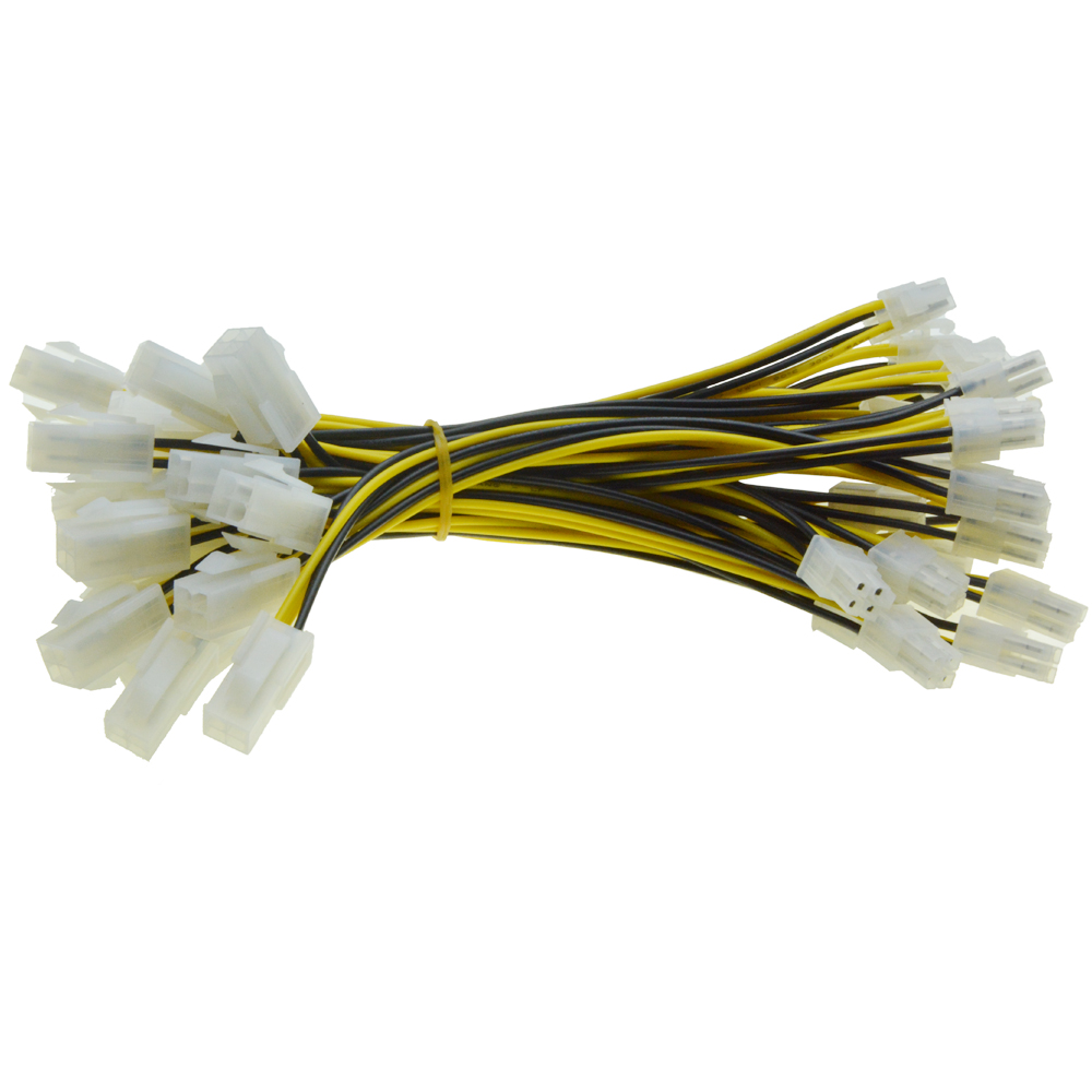 40pcs 4Pin CPU Power supply Extension Cord Cable Desktop 4 pin ATX 12V P4 Power Male to Female Connector Cable 20cm