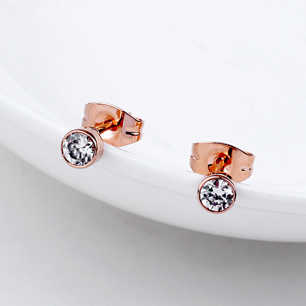 Women S Gifts Charms Bijoux Round Crystal Gold Silver Earrings Studs Dance Party Accessories