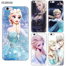 For Apple IPhone 7 3D Soft TPU Case Coque For Iphone X Iphone5s 6 6s Plus Silicon Back Covers For IPhone 8 Frozen Print Shell
