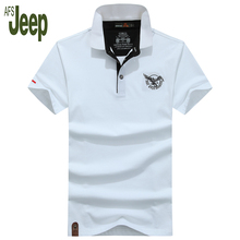 new arrival spring 2017 AFS JEEP Battlefield Jeep men's polo shirt lapel short-sleeved solid color fashion polo shirt men 50