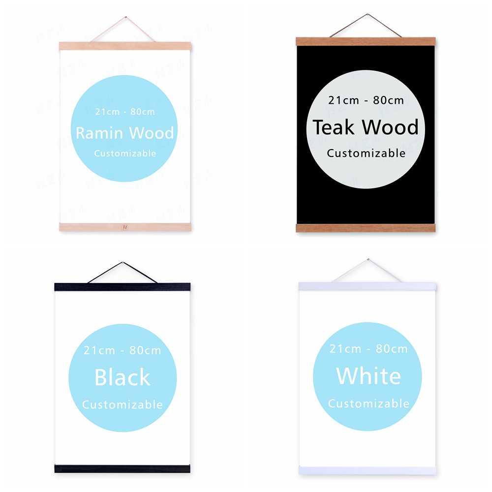 Moderne Schwarz Weiß Motivations Starke Zitate Holz Gerahmte A4 Leinwand Malerei Home Decor Wand Kunst Drucken Bilder Poster Scorll