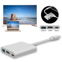 USB 3.1 Typ C do USB-C USB3.0 Adapter HDMI HD 1080 P Audio Kabel Konwerter wideo Ultra HD 4 K UHD 3D dla Apple MacBook Pixel