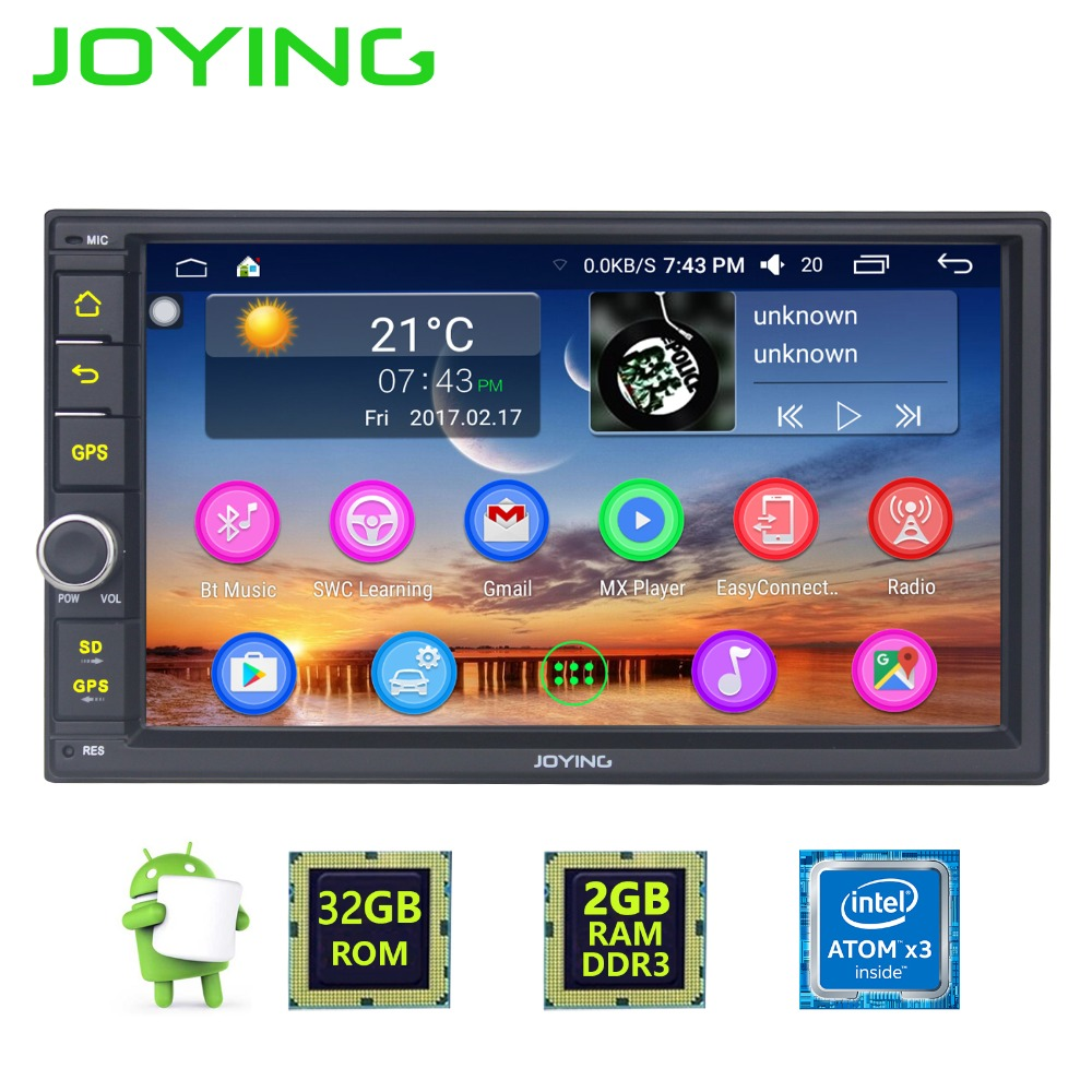 7 Joying Quad Core Double Din 2GB 32GB Universal Android 6 0 Car font b Radio