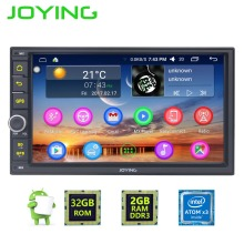 "7 ""Joying Quad Core Doble Din 2 GB + 32 GB Android 6.0 Universal Car Audio Radio Estéreo GPS Reproductor de Radio de navegación Multimedia"