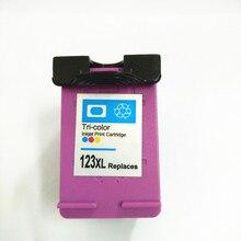 For HP 123 Color Ink cartridge HP123 xl Deskjet 1110 1111 1112 2130 2132 3630 3632 Printer