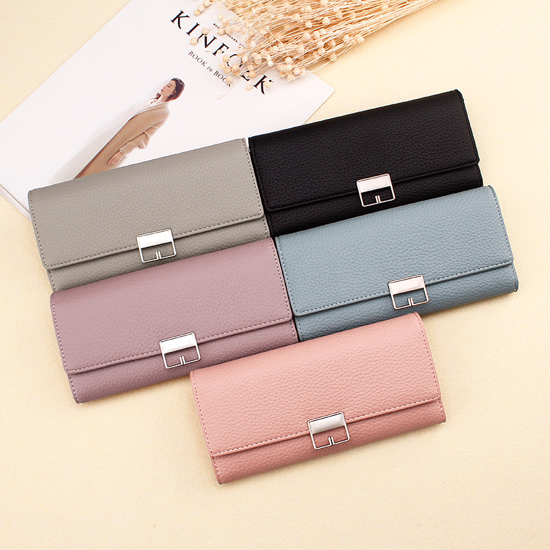 Women Long High Quality Clutch Money Bag PU Leather Wallet Casual Fashion Wallet Purses Coin Purse Card Holder Female Wallets