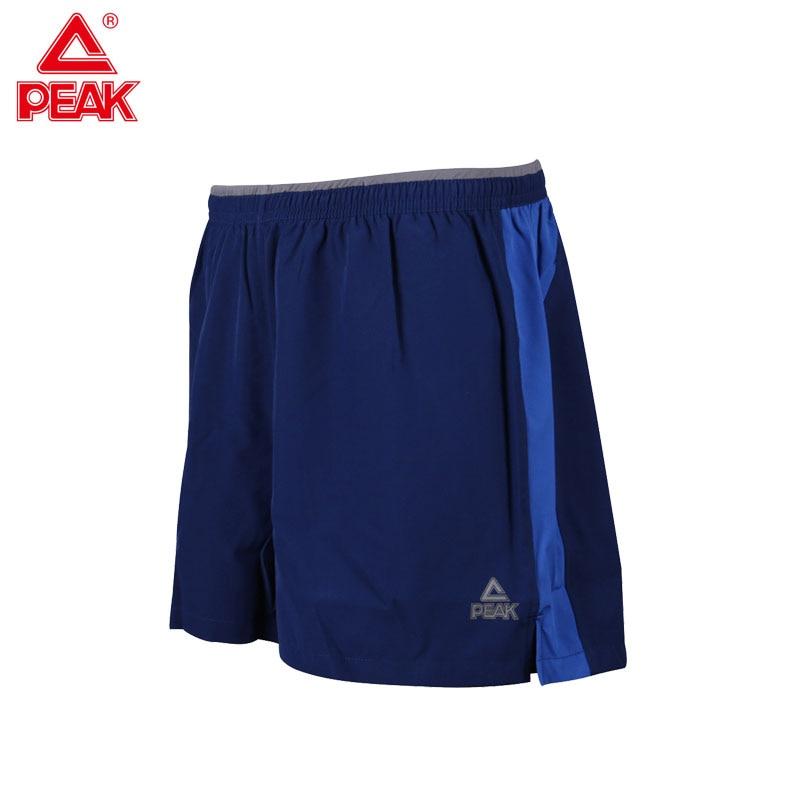 PEAK Mens Running Shorts Breathable Sports Short for gym yoga trainning with back pocket