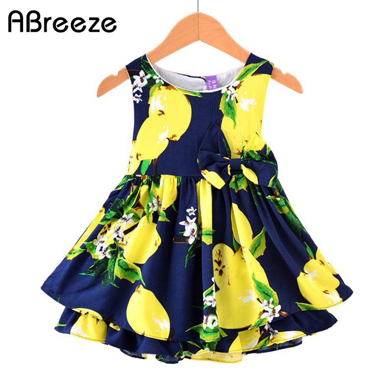 c7600d669 Abreeze 2018 summer New 1 5T toddler girls European style dresses ...