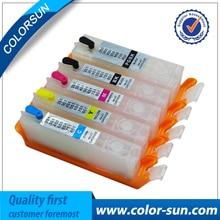 5 unids pgi-250 cli-251 pgi250 cartucho de tinta recargable para canon ip7220 ip8720 mg5420 mx722 mx922 mg6420 ix6820 con la viruta del arco