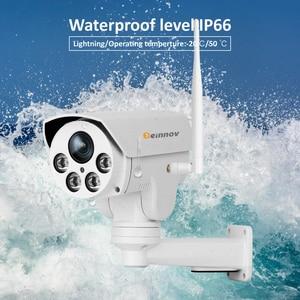 Image 4 - Einnov PTZ IP Camera 4X Zoom 1080P Outdoor Wireless Home Security Camera Wifi Video Surveillance Audio Record Onvif HD IR Wi fi
