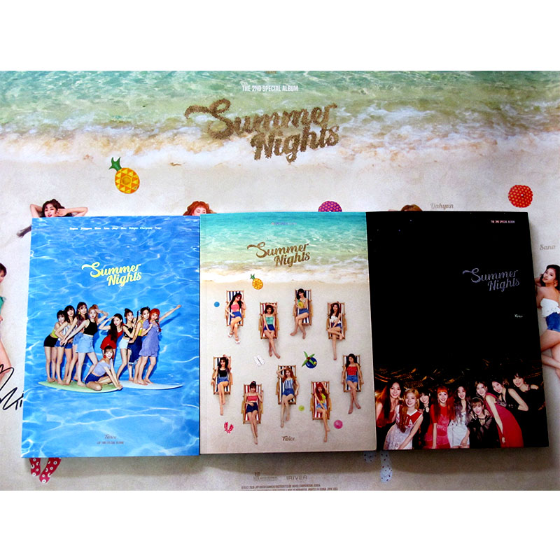 Signed TWICE autographed 2018 2nd album Summer Nights album CD korean signed poster 082018