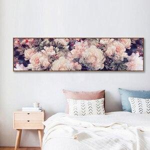 Image 3 - רקמה, DIY גדול צלב סטיץ סט עבור ערכת רקמה מלאה, לבן סגול עלה אדמונית פרח מודפס דפוס חתונה קיר תפאורה