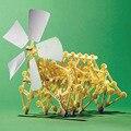 Горячие Продажи DIY Робот Ветер Powered Прогулки Уокер Мини Strandbeest Ассамблеи Модель Робот Дети Детей Игрушки