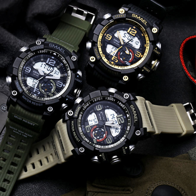 Fashion Army Cool Men Military Watch Man Waterproof Shock SMAEL Brand Watches Sports Casual LED Digital Clock Relogio Masculino