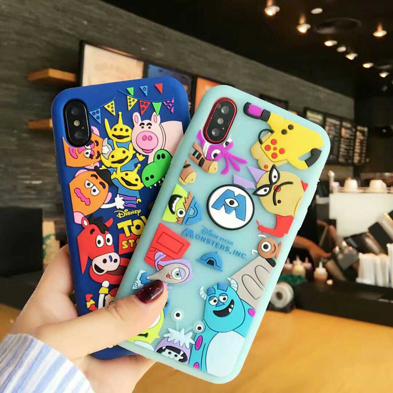 Galleria fotografica 3D Monsters University Case For Samsung Galaxy S6 S7 Edge S8 Plus C5 C7 C9 Pro Note 3 4 Note 8 Silicone Phone Cover