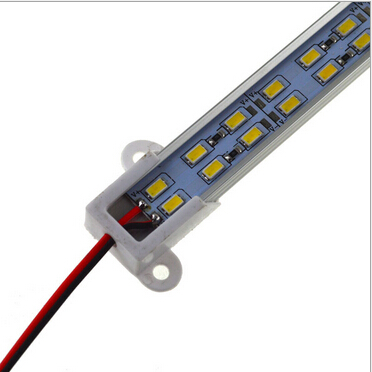 100pcs LED double line hard strip bar light 12v 144pcsLED/M 5630/5730 tube bar with Aluminum groove for jewelry counter,cabinet